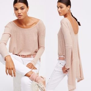 Free People The Incredible Tee Asymmetrical Knit M